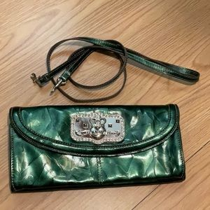 Kathy VanZeeland Convertible Emerald Green Clutch